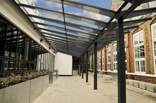 High Class Cover At Oaklands Secondary School Able Canopies