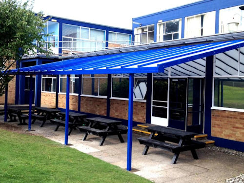 Coniston 35 & Wall Mounted Canopies - Schools Architects u0026 Construction | Able ...