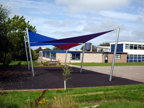 Canopies for schools architects construction able for Colorado shade sail